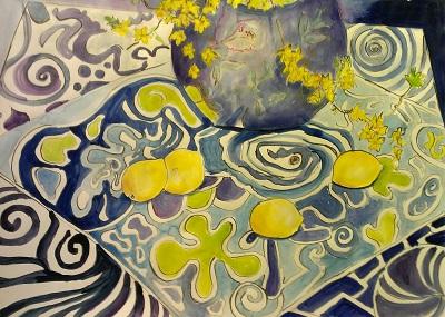 Lovely Lemons – Mixed Media – 21″ x 29″