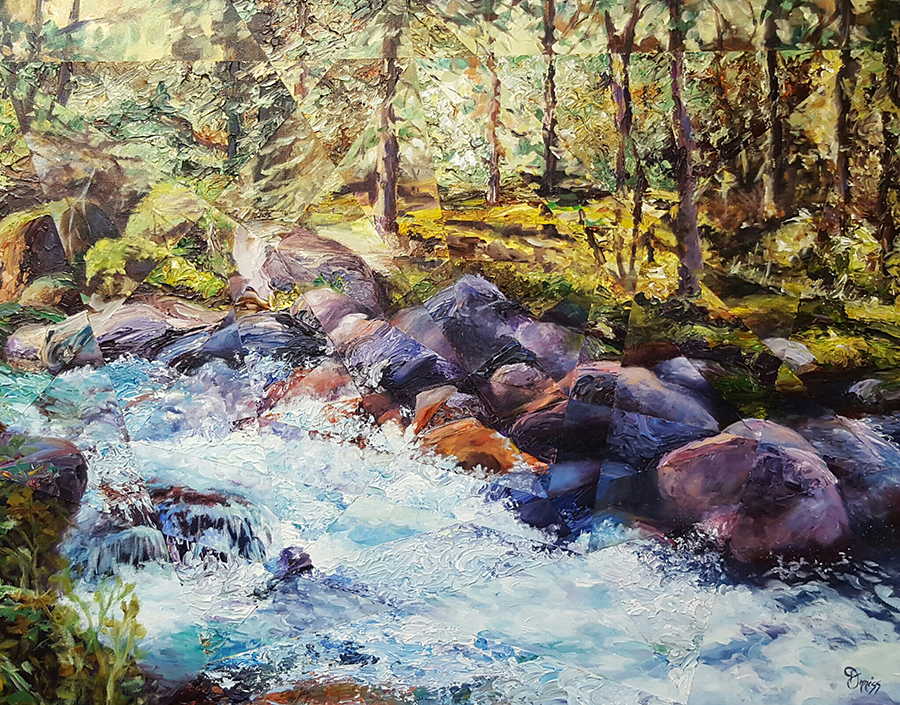 "Acrylic landscape painting ""Abound"" by Dixie Orriss"