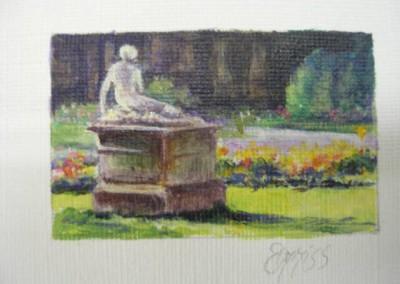 Bordeaux Park – Acrylic – 2.5 cm x 4 cm – Sold