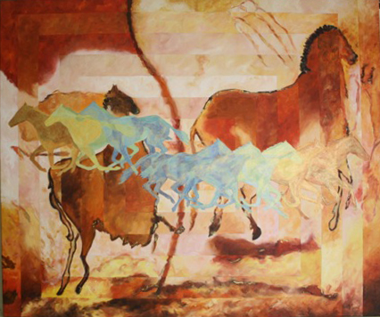 Lascaux Caves to Modern Day, Acrylic on Canvas, 30″ x 36″, NFS