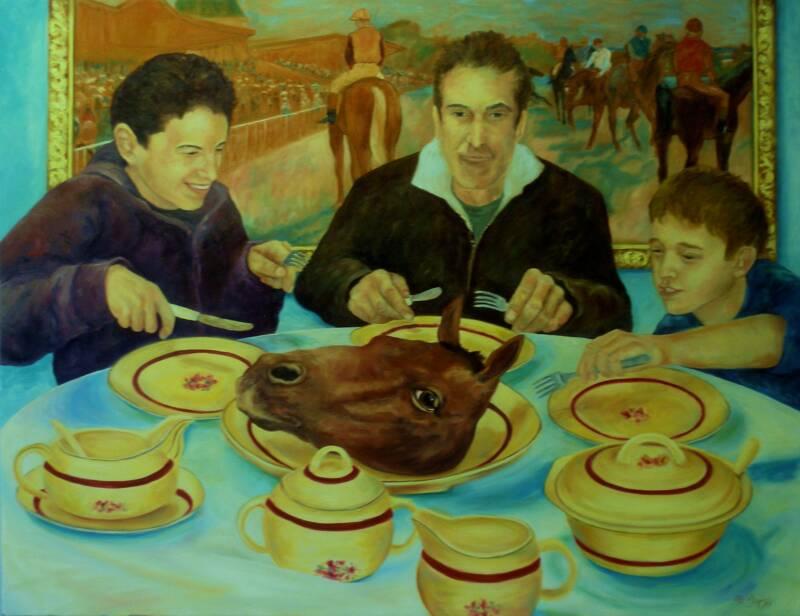 Dinner Party – Oil – 37″ x 48″