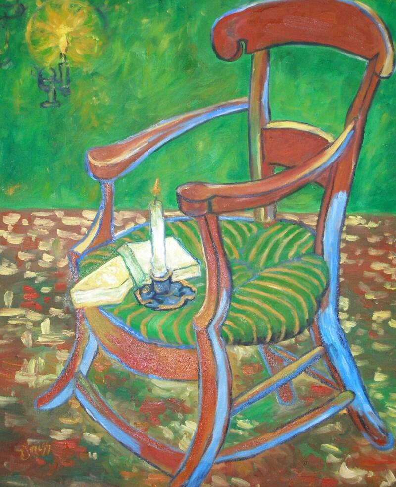"Gauguin""s Chair – Oil – 24″ x 20″"