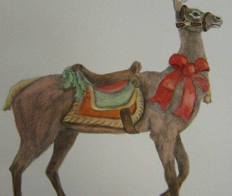 Reindeer – Graphite Watercolour Study