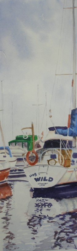 Hog Wild – Watercolor – 16″ x 5″
