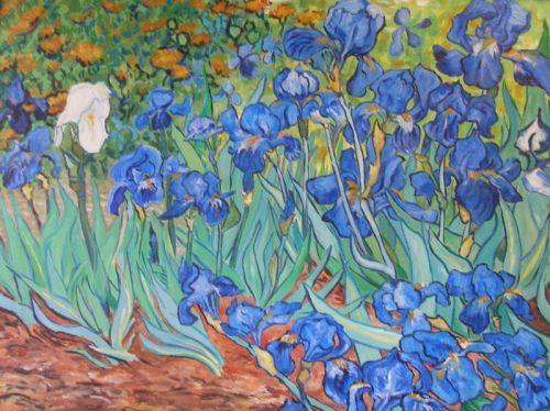 Irises – Acrylic – 30″ x 40″, Sold