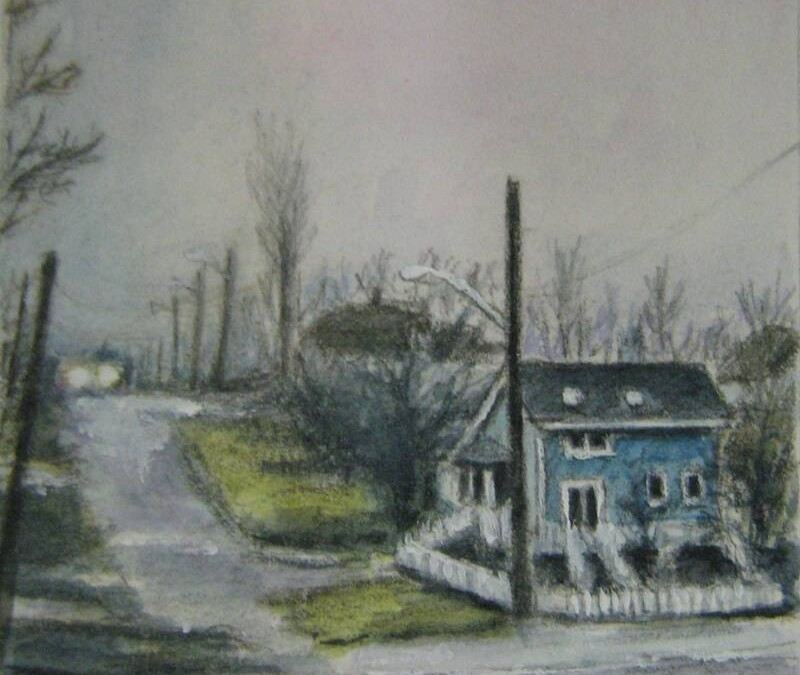 Courtney, B.C. – Watercolor & Graphite – Miniature