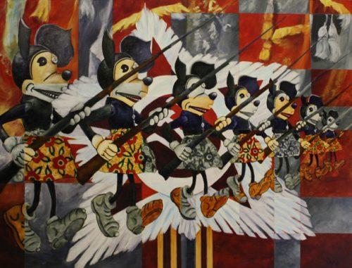 Behind the Iron Curtain – Acrylic on Hardboard – 18″ x 24″
