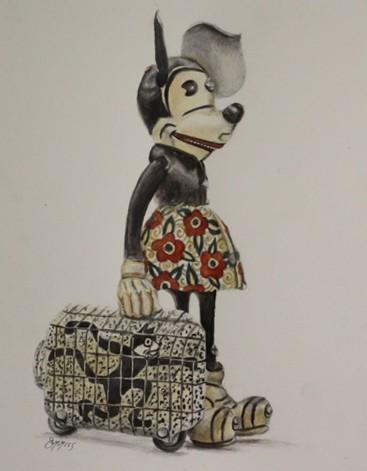 Minnie Study – Watercolor & Graphite