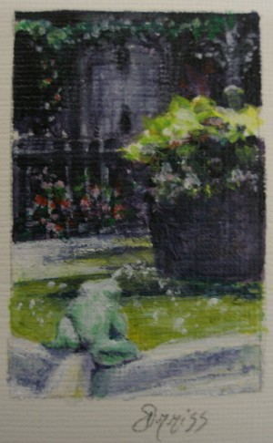 Palace Fountain, Barcelona, Spain – Acrylic – 4 cm x 2.5 cm