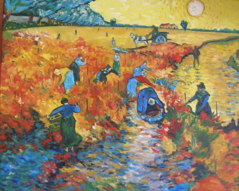 The Red Vineyard – Oil – 36″ x 43″
