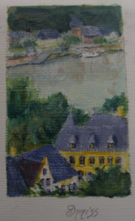 The River Rhine, Germany – Acrylic – 4 cm x 2.5 cm