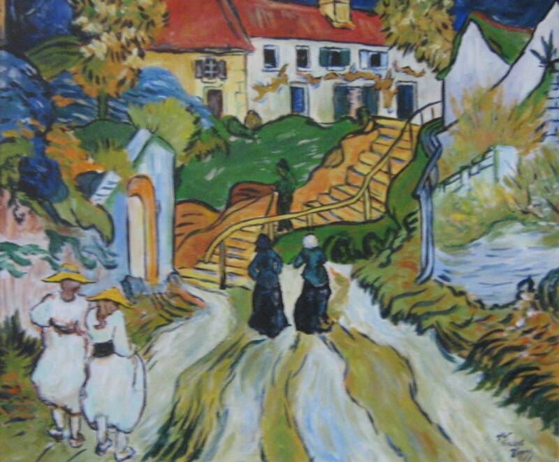 Stairway at Auvers – Acrylic – 20″ x 24″