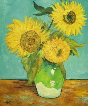 Sunflowers – Mixed Media – 24″ x 18″