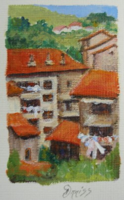 Wash Day, Italy – Acrylic – 4 cm x 2.5 cm