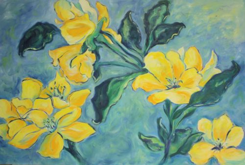 Flower Study – Oil on Board – 24″ x 36″