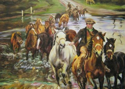 The Fjord (After Alfred Munnings) – Oil – 37″ x 48″, Artist's Collection