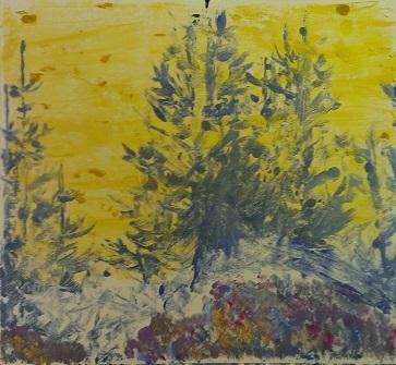 Oil Monoprint – Age 12