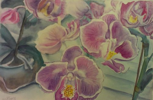 Pretty in Pink – Watercolor – 14″ x 10″