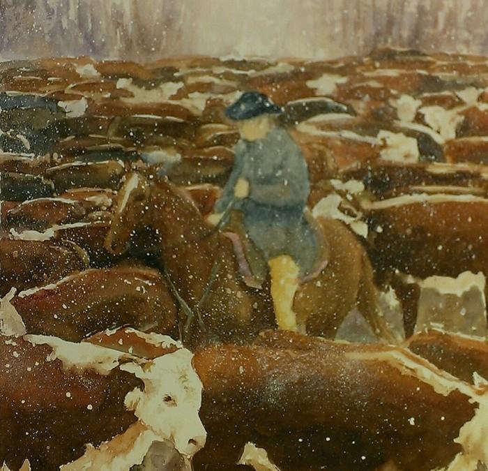 The Cattle Herd – Watercolor – 16″ x 14″