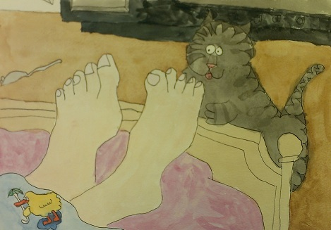 Pen & Ink and Watercolor – Age 8