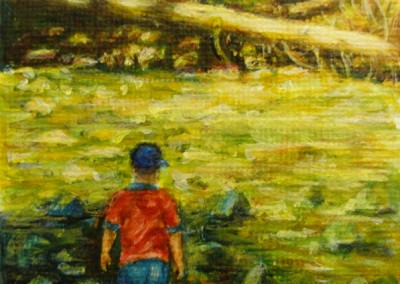 The Follower – Acrylic – 3″ x 2.5″