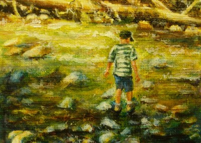 In the Creek – Acrylic – 2.5″ x 3″
