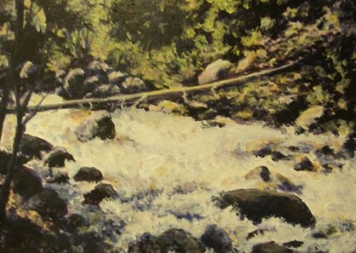 Excelsior Creek II – 8″ x 16″- Acrylic on Hardboard – Sold
