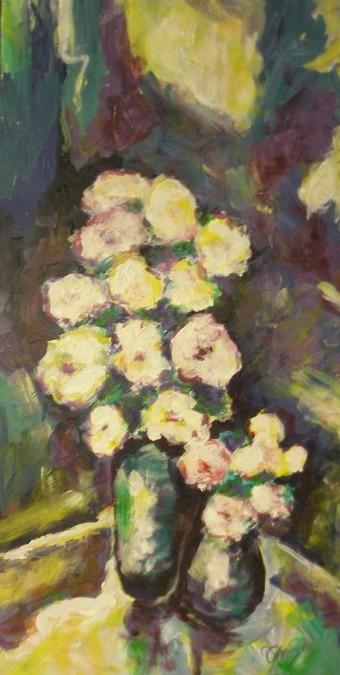 Impressionistic Flowers – Acrylic – 16″ x 8″