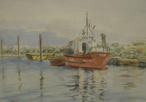 The Coast Guard – Watercolor – 12″ x 16″, SOLD
