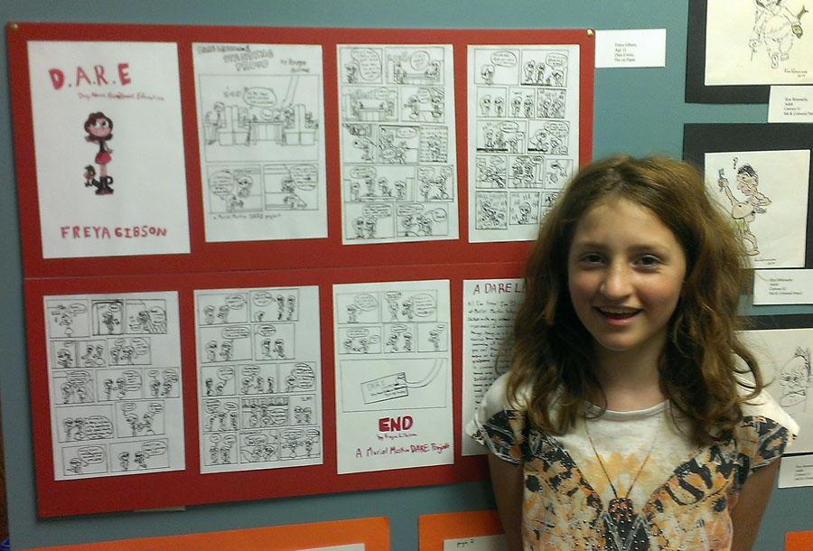 Freya – Grade 6 – Cartooning