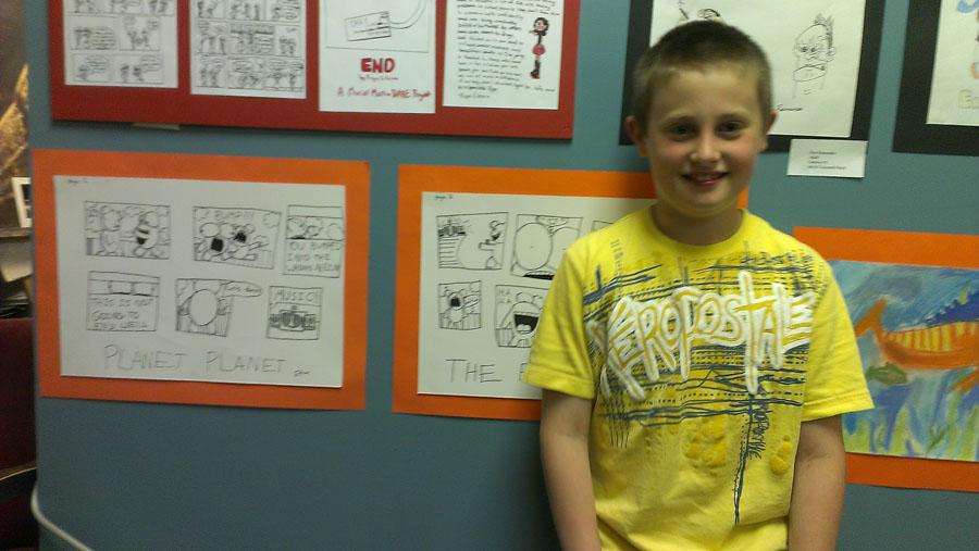 Ethan – Grade 4 – Cartooning