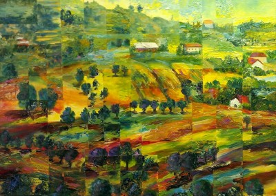 The Countryside (Italy) – Acrylic – 24″ x 30″, $1400