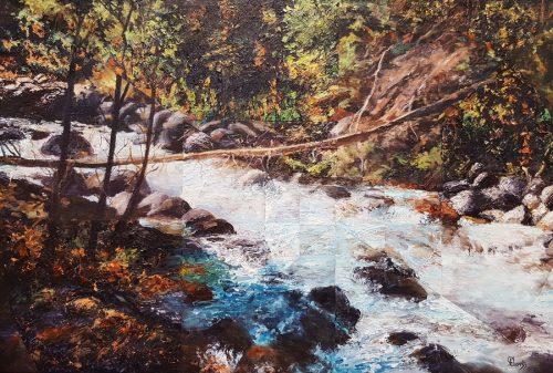 Wavering, 20″ x 30″, Acrylic on Canvas