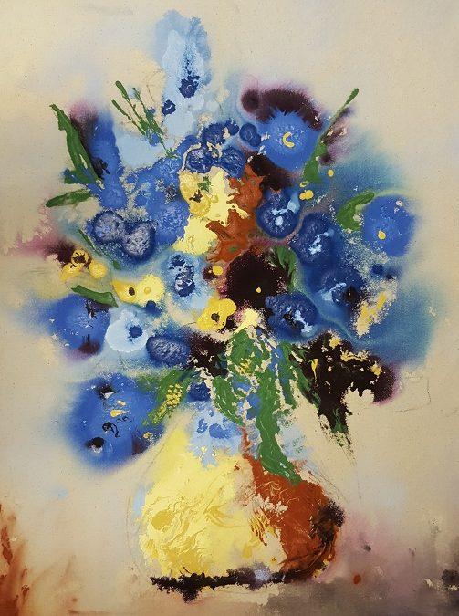 Fluid Acrylic on Raw Canvas