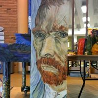 Keys for the City, a Street Piano Project Van Gogh Self Portrait
